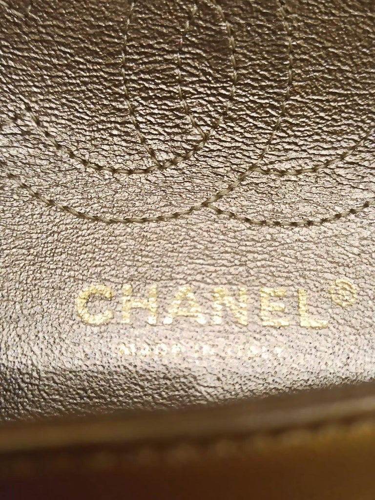 Chanel Gold Limited Edition Lamé Bag For Sale 3