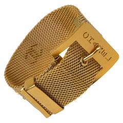 Chanel Gold Mesh Cuff Bracelet