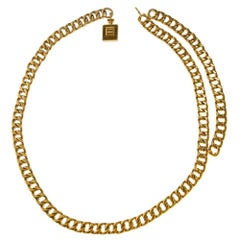 Chanel gold metal with Perfume pendant number5 Belt