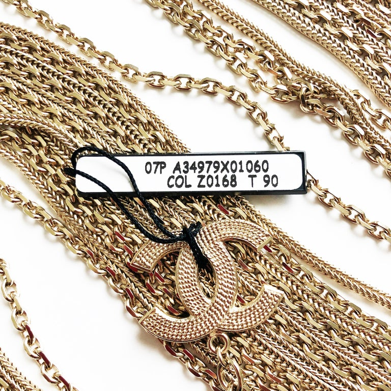 Chanel Gold Multi-Chain Belt with CC Logo Charm NWT NOS 07P  For Sale 5