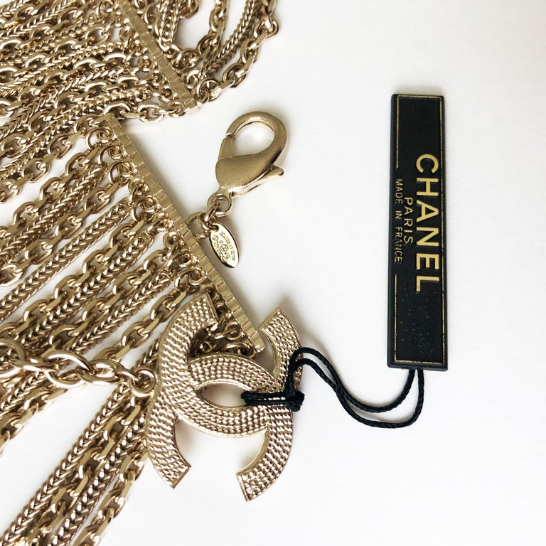 Chanel Gold Multi-Chain Belt with CC Logo Charm NWT NOS 07P  For Sale 6