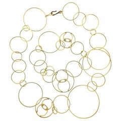 Chanel Gold Open Circle Long Necklace