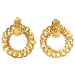 Chanel Gold Open Hoop Earrings