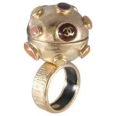 Chanel Gold Orb Ring size 6.5
