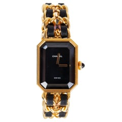 Chanel gold-plated & black PREMIERE Chain Watch