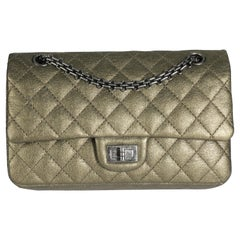 Chanel Gold Quilted Calfskin Reissue 2.55 225 Double Flap Bag