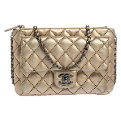 Chanel Gold Quilted Leather Mineral Nights Bag