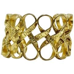 Chanel Gold Ribbon Cuff