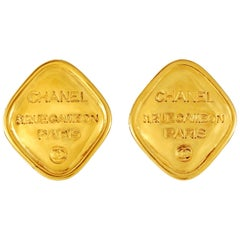 Chanel Gold RUE CAMBON Vintage Earrings