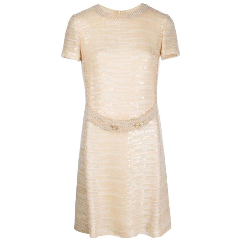 Chanel Gold Sequin Dress For Sale
