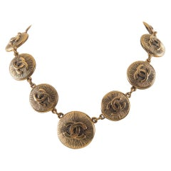 Chanel Gold Sunburst Necklace