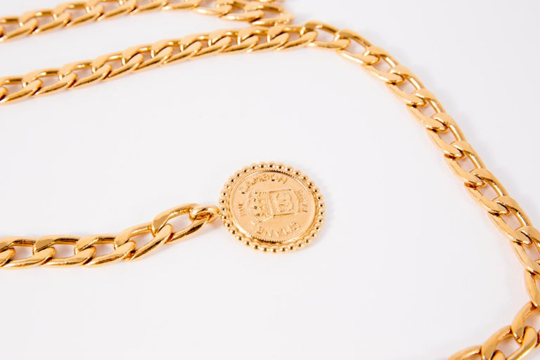 Chanel Gold Tone Chain Belt  In Excellent Condition For Sale In Paris, FR