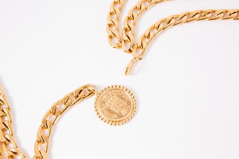 Women's Chanel Gold Tone Chain Belt  For Sale