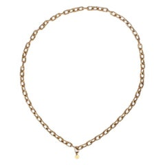 CHANEL gold-tone Rope Chain Necklace VINTAGE