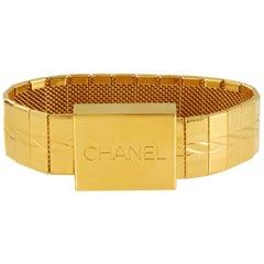 Chanel Gold Watch Band Bracelet