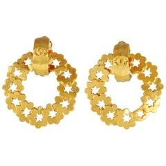 Chanel Gold Wreath Earrings