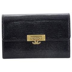 Chanel Golden Class Wallet Lizard