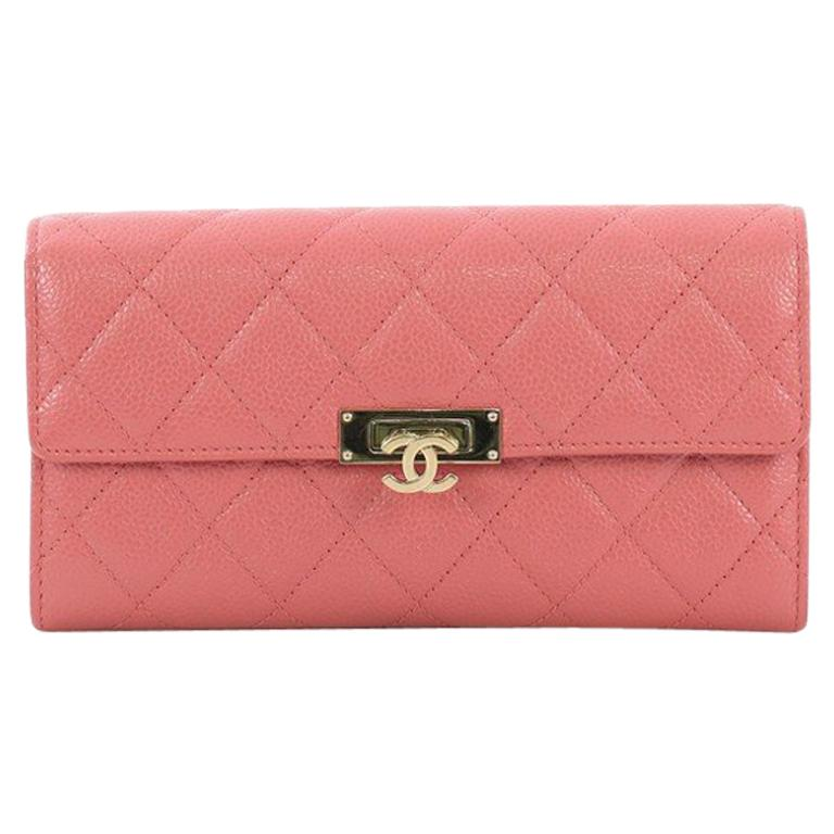 7eae2b7d35ea Chanel Golden Class Wallet Quilted Caviar For Sale at 1stdibs