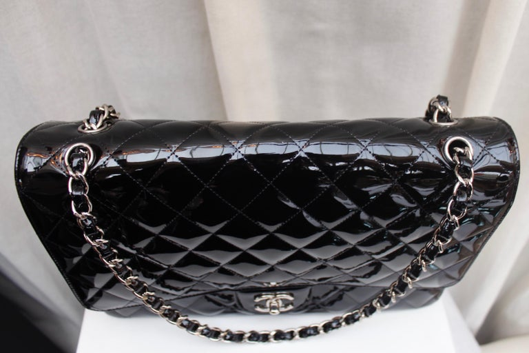 Chanel gorgeous black patent leather, 2009 – 2010 For Sale 3