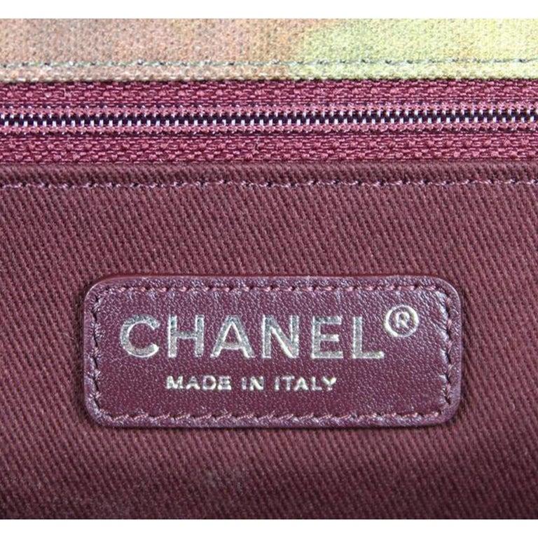 Chanel Graffiti Box 2015 On The Pavement Khaki Canvas Messenger Bag For Sale 2
