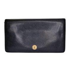 Chanel Grained Calfskin CC Button Long Wallet