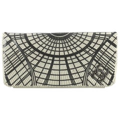 Chanel Grand Palais Clutch Sequin Embellished Stitched Calfskin