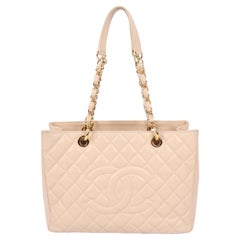 Chanel Grand Shopper Bag - beige caviar leather