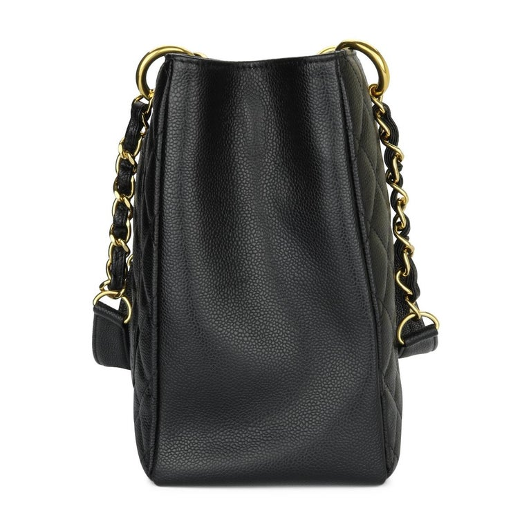 Women's or Men's CHANEL Grand Shopping Tote (GST) Bag Black Caviar with Gold Hardware 2011 For Sale