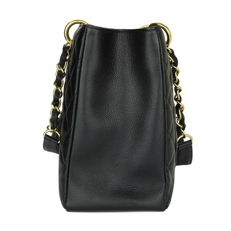CHANEL Grand Shopping Tote (GST) Bag Black Caviar with Gold Hardware 2011 For Sale 1