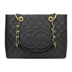 CHANEL Grand Shopping Tote (GST) Bag Black Caviar with Gold Hardware 2014