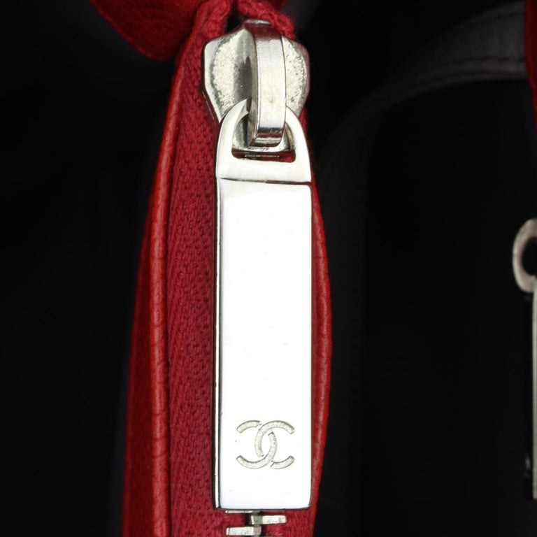 CHANEL Grand Shopping Tote (GST) Red Caviar with Silver Hardware 2011 For Sale 10