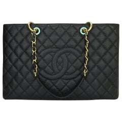 CHANEL Grand Shopping Tote (GST) XL Bag Black Caviar with Gold Hardware 2015