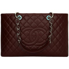 CHANEL Grand Shopping Tote (GST) XL Burgundy Caviar with Silver Hardware 2013