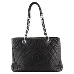 Chanel Grand Shopping Tote Quilted Caviar