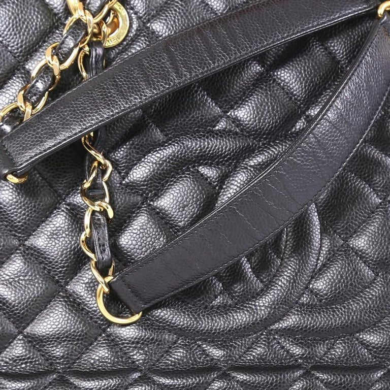Chanel Grand Shopping Tote Quilted Caviar XL For Sale 2