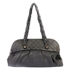 Chanel Gray Distressed Large Tote