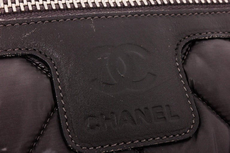 Chanel Gray Quilted Nylon Medium Coco Cocoon Messenger Bag For Sale 1