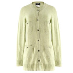 Chanel Green Cashmere Cardigan - Size US 12