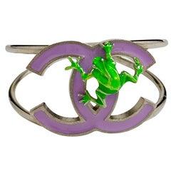 CHANEL Green Frog Bracelet