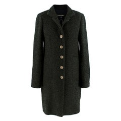 Chanel Green Lurex Boucle Tweed Tailored Coat - US Size 6