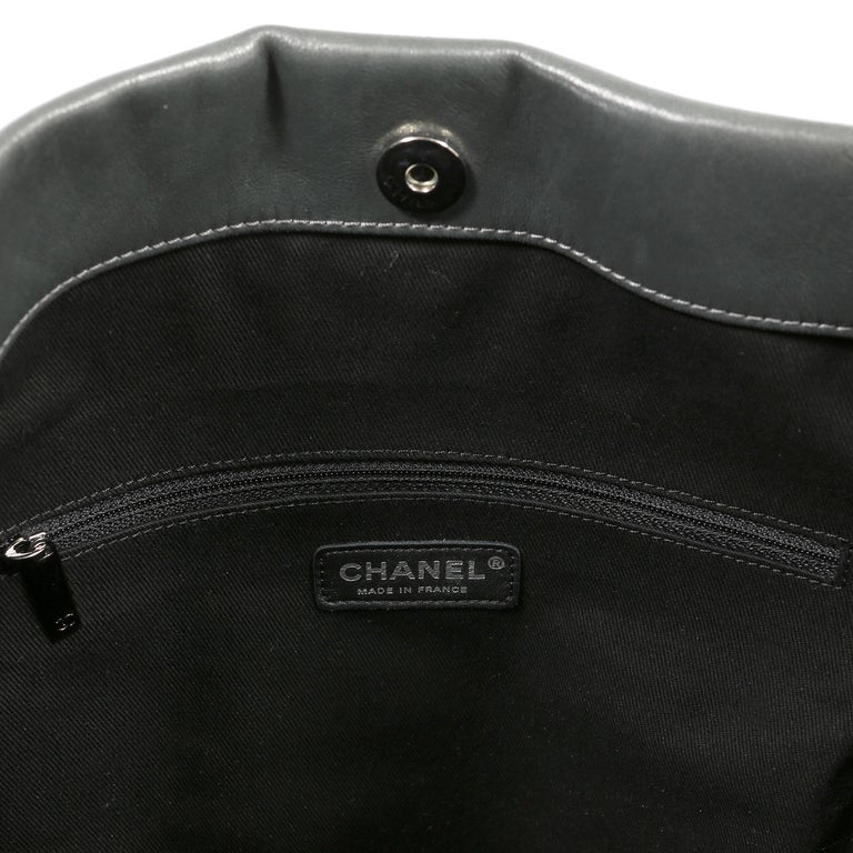 Chanel Grey Lambskin Eight Knots Tote For Sale 7