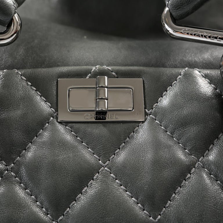 Chanel Grey Lambskin Eight Knots Tote For Sale 2