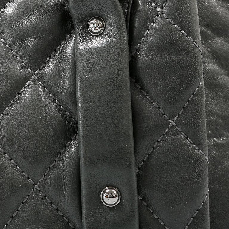 Chanel Grey Lambskin Eight Knots Tote For Sale 4