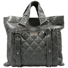 Chanel Grey Lambskin Eight Knots Tote