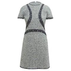 Chanel Grey & Multicolor Tweed Short Sleeve Dress