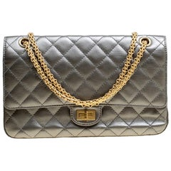 Chanel Grey Quilted Leather Reissue 2.55 Classic 226 Flap Bag