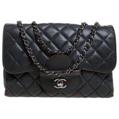 Chanel Grey Quilted Leather Shoulder Bag