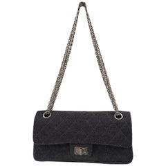 Chanel Grey Reissue Shoulder Bag