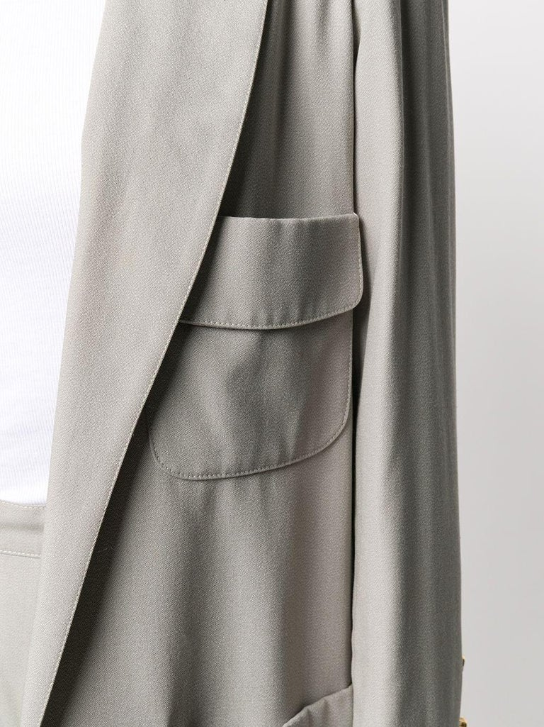 Chanel Grey Silk Trouser Suit In Excellent Condition For Sale In London, GB