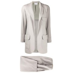 Chanel Grey Silk Trouser Suit